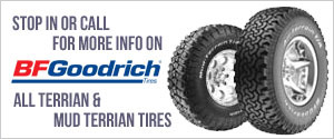 BFGoodrich All-Terrian & Mud-Terrian Tires